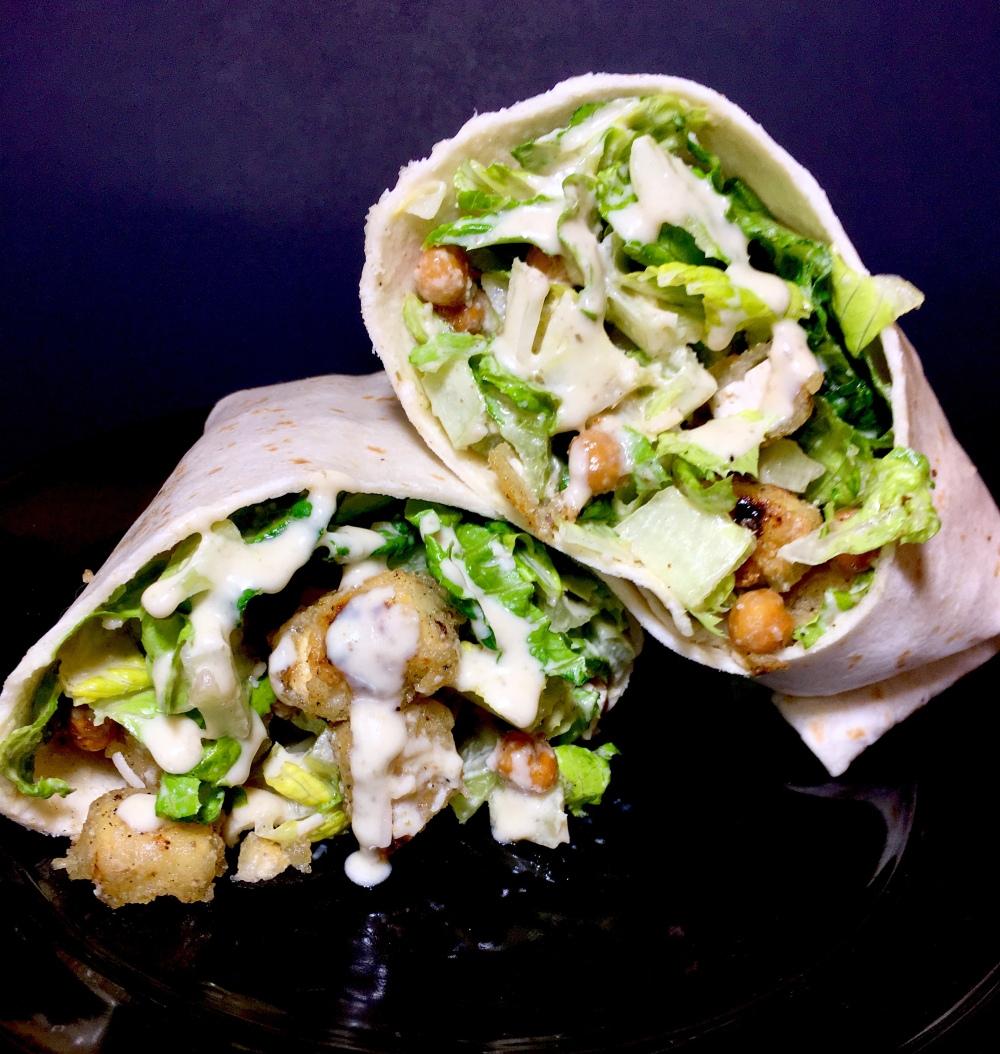 Chicken' Caesar Wrap (Vegan) – Midnight Munchies & More!